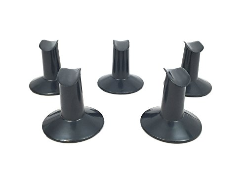 Beauticom 5 Pieces Airbrush® Brand Plastic Finger Stand for Finger Nail Airbrushing (BLACK Color)
