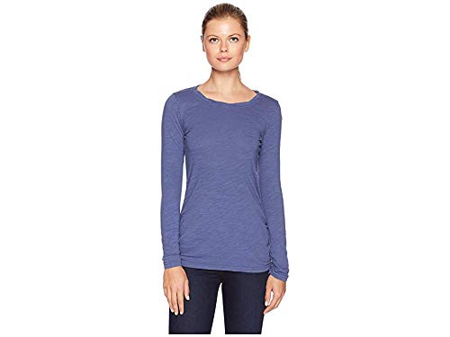 Mod-O-Doc Women's Slub Jersey Long Sleeve Twisted Scoop Neck Tee Blueprint Large