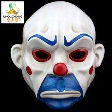 [Adult Batman Joker Clown Bank Robber Mask Dark Knight Costume Halloween Masquerade Party Fancy Resin] (Robber Adult Costumes)
