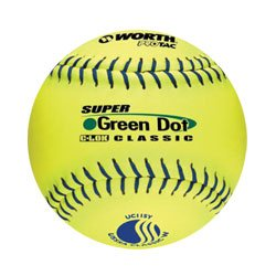 WorthT Super Green Dot 11 in. Slow-Pitch Softballs
