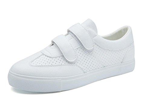 Bottom Tres Blancos Pequeños Cómodo Señora Movimiento Ocio Plano XIE Zapatos Colores Green WHITE Zapatos Escuela Compras PU 37 38 Retro Estudiantes PwXxPzqZS