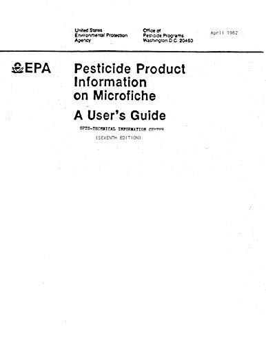 Pesticide Product Information on Microfiche: a User