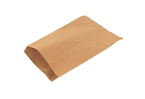 RetailSource K151801FM100 Kraft Flat Merchandise Bags, 15
