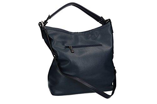 Tasche damen umhängetasche PIERRE CARDIN blau mit zip VN1809 kGiK7k54