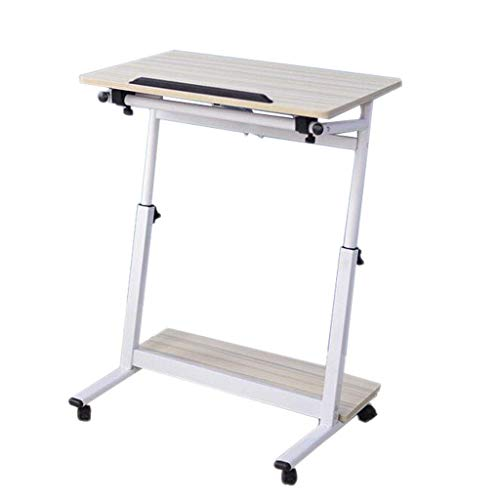 QAZWSX Tilting Art Table Small Desk Work Drawing Table Home Bedside Mobile Lifting Lazy Laptop Table (Size : - Positioning Table Tilting Mobile Work
