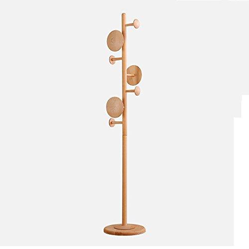 LQQGXL LQQGXLModern minimalist coat rack, Bedroom Parlor Nordic Simple Japanese Style Hanger Floor Solid Wood Coat Rack Creative (Material : Beech) by LQQGXL