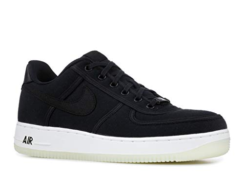 Nike Mens Air Force 1 Low Canvas Retro QS Shoes Black/Summit White AH1067-004 Size 7.5