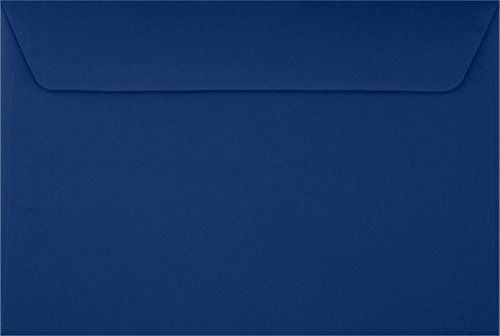 6 x 9 Booklet Envelopes - Navy Blue (250 Qty.)
