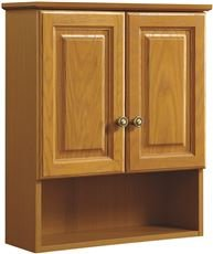 Cabinets Wall Bathroom Oak (National Brand Alternative 3554460 Design House Over-The-John Cabinet, 2 Door, Oak, 21X26 in.)