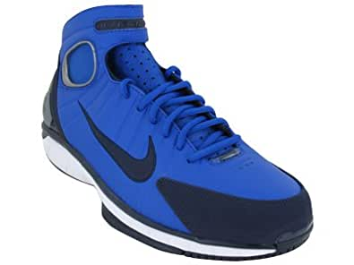 Mens Nike Air Zoom Huarache 2K4 Basketball Shoes Game Royal / Black and Blue / White 511425-400 Size 10.5