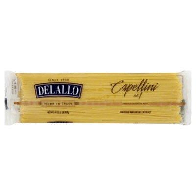 Delallo Imported Organic Number 1 Semolina Capellini Pasta, 1 Pound - 16 per case.