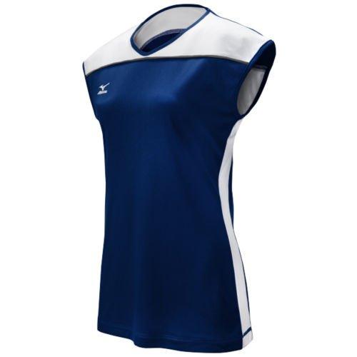 Mizuno mujeres de Balboa 2.0Cap Sleeve Jersey Azul marino/Blanco