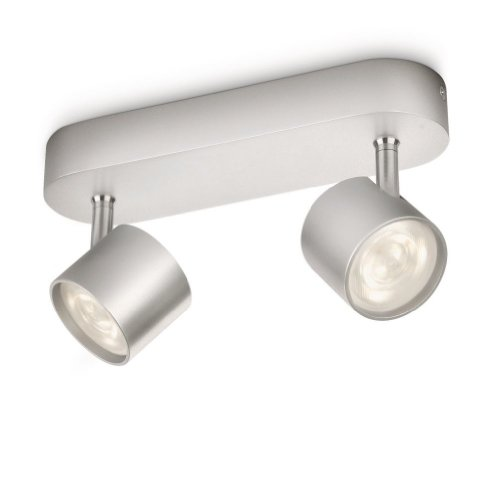 Philips myLiving LED Spotbalken Star 2-flammig, aluminium