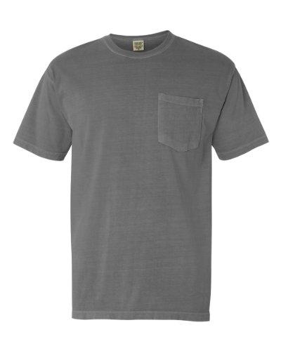 (Comfort Colors Chouinard 6030 Adult Heavyweight Pocket Tee Grey PgmDye Large)