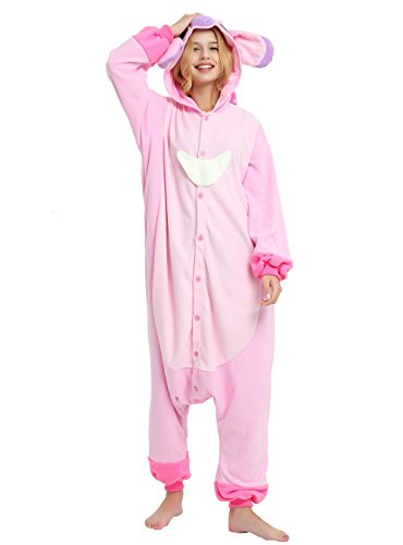 Es Unico Stitch Angel Onesie Costume for Adults & Teens. Mens & Womens Halloween Kigurumi,L