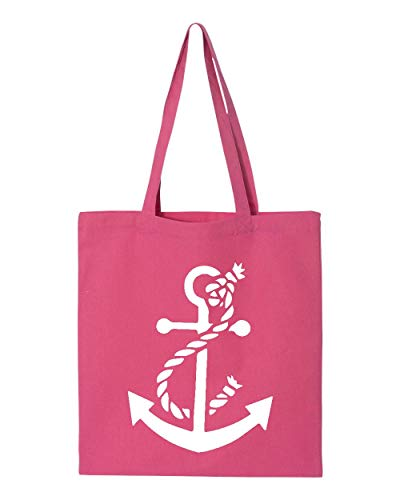 White Anchor Nautical Tote Handbags Bags for Work School Grocery Travel (GSPI)