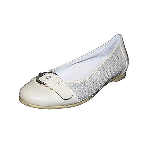b987103e3963ec 30%OFF Cherie enfants chaussures ballerines pour femme/fille 7830 crème/or,