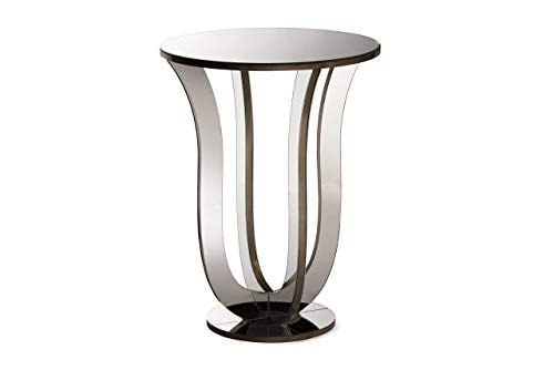 - Baxton Studio Kylie Modern and Contemporary Hollywood Regency Glamour Style Mirrored Accent Side Table, Metallic