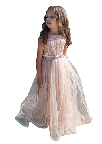 Magicdress Rose Gold Sequin Flower Girl Pageant Birthday Party Communion Dresses -
