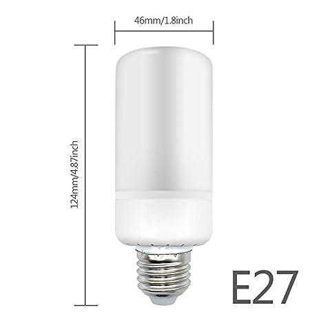 Bombilla LED Vela Lámpara 6 W simuler LED bombilla llama 3 modos 360 ° haz ángulo Navidad fiesta decoración: Amazon.es: Electrónica