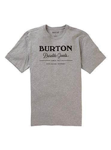 Burton Men's Durable Goods Short Sleeve Tee, Gray Heather W20, Large