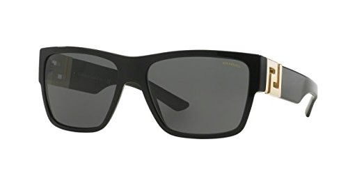 Versace Mens Sunglasses (VE4296) Black/Grey Acetate - Polarized - - Versace Sunglass Men For