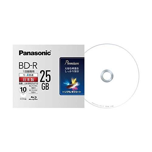 (まとめ)パナソニック 録画用BD-R 25GB4倍速 5mmスリムケース LM-BR25LP10 1パック(10枚) 【×3セット】 AV デジモノ パソコン 周辺機器 その他のパソコン 周辺機器 14067381 [並行輸入品] B07L3546N6