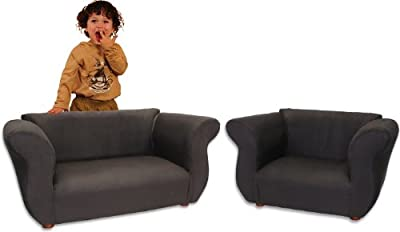 KEET Fancy 2 Piece Microsuede Sofa and Chair Set