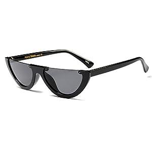 FEISEDY Retro Clout Goggles Cat Eye Half Frame Kurt Cobain Sunglasses B2282