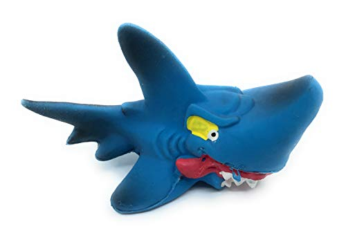 Shark Small Rubber/Latex Dog Toys, Complies to Same Safety Standards as Childrens Toys.