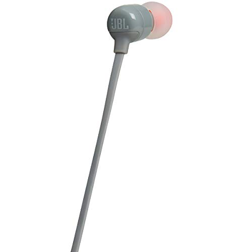 bf362525280 JBL TUNE 110BT Wireless In-Ear Headphones with Bluetooth, Neck flat tangle- free cable, Up to 6 Hours of music - Grey