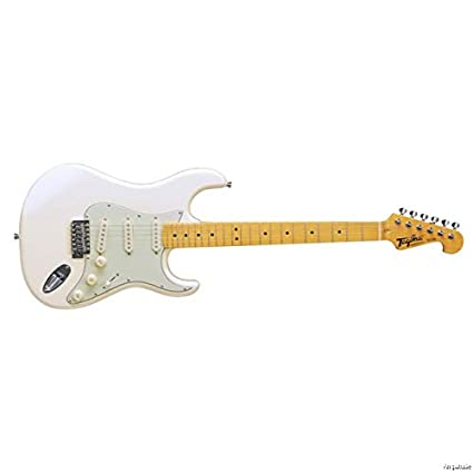 Amazon.com: Tagima TG530-WV Woodstock Series Strat Style Electric Guitar Vintage White w/Bonus Tuner, Picks & Polishing Cloth: Musical Instruments