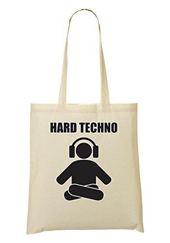 Hard Techno Levitating Human Music Collection Minimal Style Bolso De Mano Bolsa De La Compra