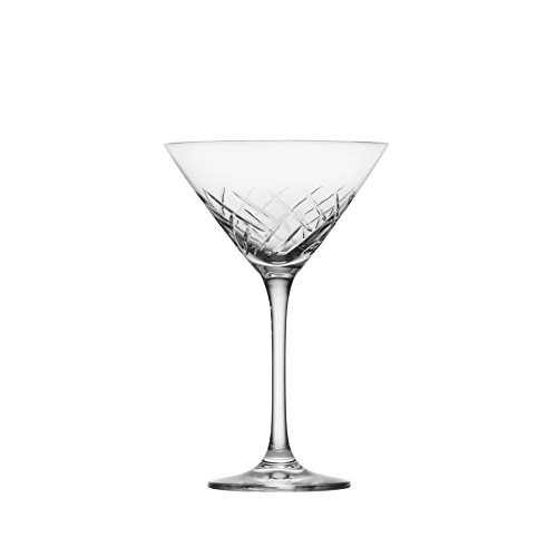 Schott Zwiesel Tritan Crystal Glass Distil Barware Collection Arran Martini Cocktail Glasses (Set of 6), 8.5 oz, Clear (Glasses Martini Crystal)