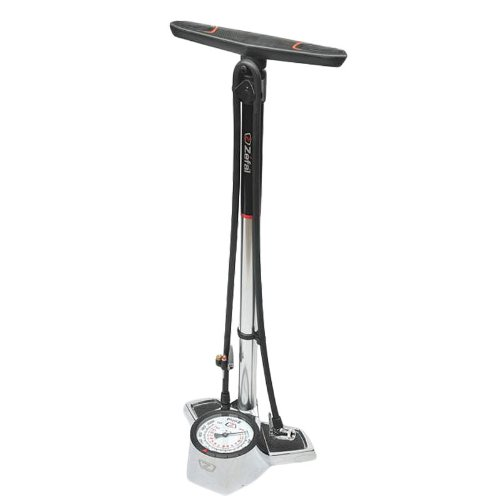 ZEFAL Alloy Profile 205 PSI Floor Bicycle Pump (Silver/Bl...