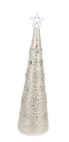 Jeweled Christmas Tree - Ganz Light Up Elegant Jewelled Glass Christmas Tree Home Decor Large, Gold, 33/4