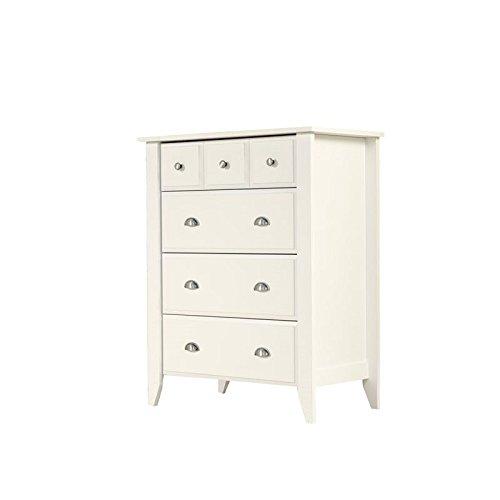 Sauder 411197 Shoal Creek 4-Drawer Dresser, L: 34.72'' x W: 18.58'' x H: 42.68'', Soft White finish by Sauder