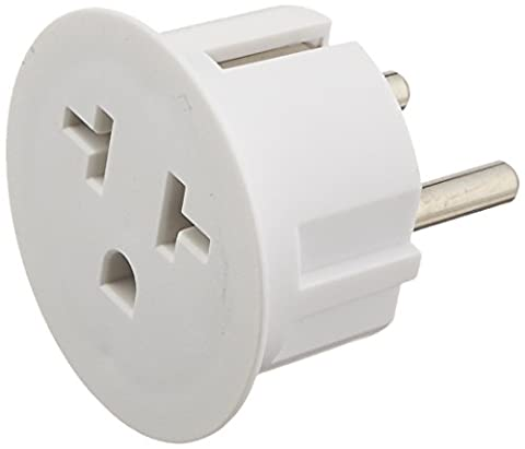 OREI American USA To European Schuko Germany Plug Adapters CE Certified Heavy Duty - 2 Pack (3 To 2 Pin)
