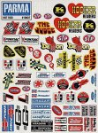 Parma 10607 Decal Sheet Meidum Hot Rod