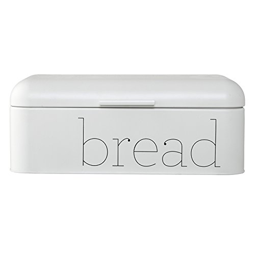 Bloomingville A97306648 Metal Bread Bin, White by Bloomingville
