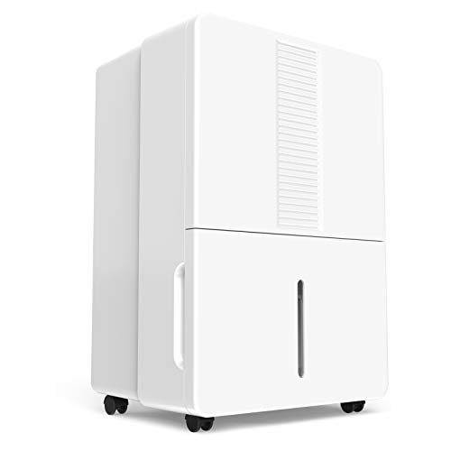 hOmeLabs 70 Pint Dehumidifier Featuring Intelligent Humidity Control - Energy Star Rated, Ideal for Large-Sized Rooms and Basements to Remove Moisture-Related Mold, Mildew and Allergens