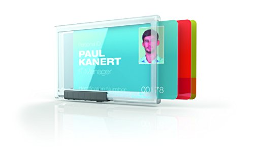 DURABLE PUSHBOX Trio Security Card Holder for Three Cards, Transparent, 10 BX (892019) ()
