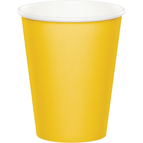 Touch of Color Hot/Cold Paper Cups, 240-Count, School Bus Yellow