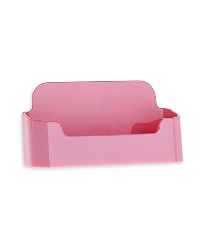 Source One Acrylic Business Card Holder (1 Pack, - Card Pink Business
