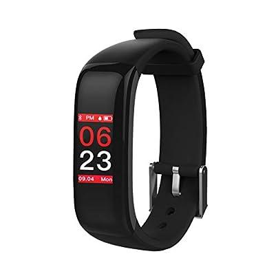 ZCPWJS smart wristband Smart Bracelet Plus Fitness Bracelet Color Screen Heart Rate Monitor Sports Health Fitness Tracker Message Remind Smart Band Black Estimated Price £59.92 -