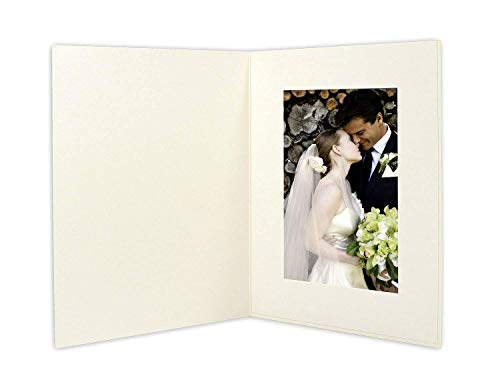 (Golden State Art, Cardboard Photo Folder For a 4x6 Photo (Pack of 50) GS007 Ivory Color)