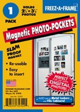 Freez-a-frame Magnetic Photo Pocket 2.5 X 3 .5 (Wallet Size) 100 Pack (100) by Freez-A-Frame