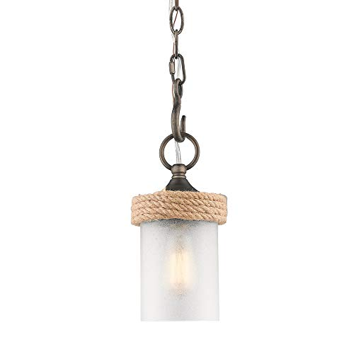 Golden Lighting 1048-M1L GMT-CS One Light Mini Pendant ()