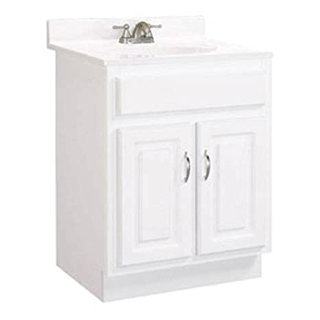 Design House 541029 Concord Ready-To-Assemble 2 Door Vanity, White, 24-Inch by 21-Inch