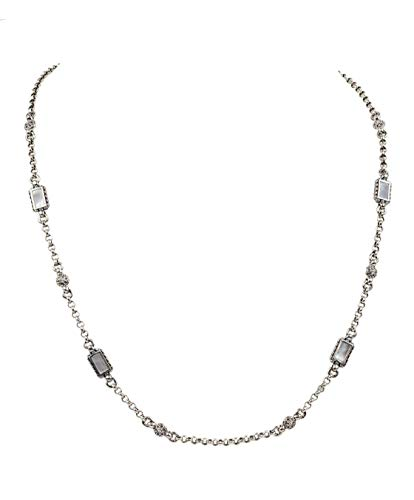 Konstantino 925 Sterling Silver and Mother of Pearl Necklace, 18 Inch Length